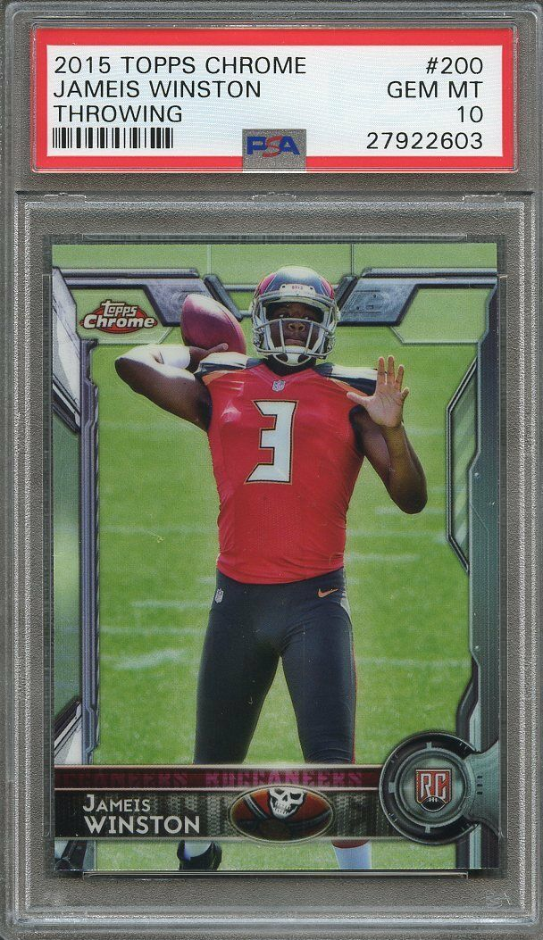2015 topps chrome #200 JAMEIS WINSTON tampa bay buccaneers rookie card PSA 10
