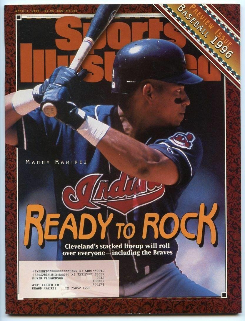 SI: Sports Illustrated April 1, 1996 Manny Ramirez, Baseball, Cleveland Indians
