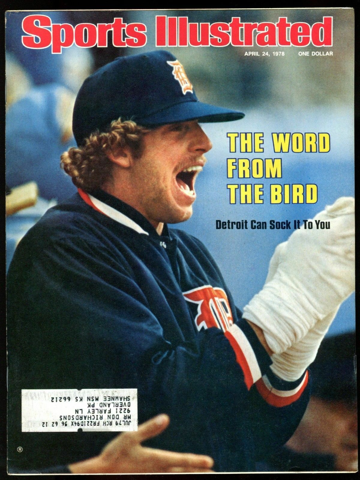 SI: Sports Illustrated April 24, 1978 Mark Fidrych, Baseball, Detroit Tigers VG