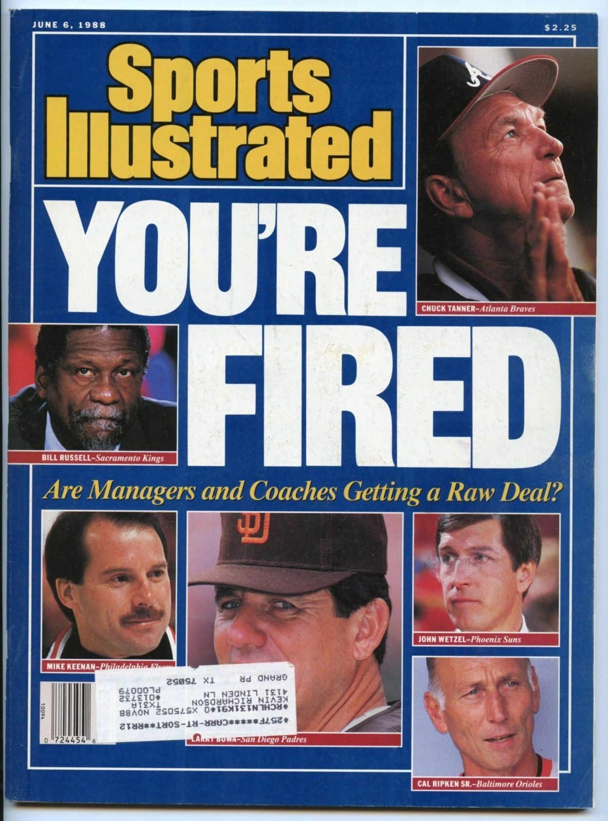 e98ab971aa SI: Sports Illustrated June 6, 1988 Cal Ripken Sr, Baseball, Baltimore  Orioles