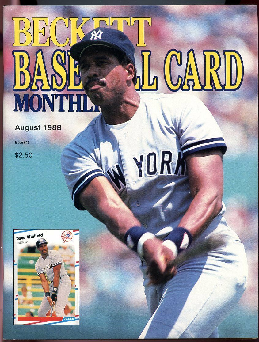 Beckett Baseball Card Monthly #41 August 1988 Dave Winfield NY Yankees VG