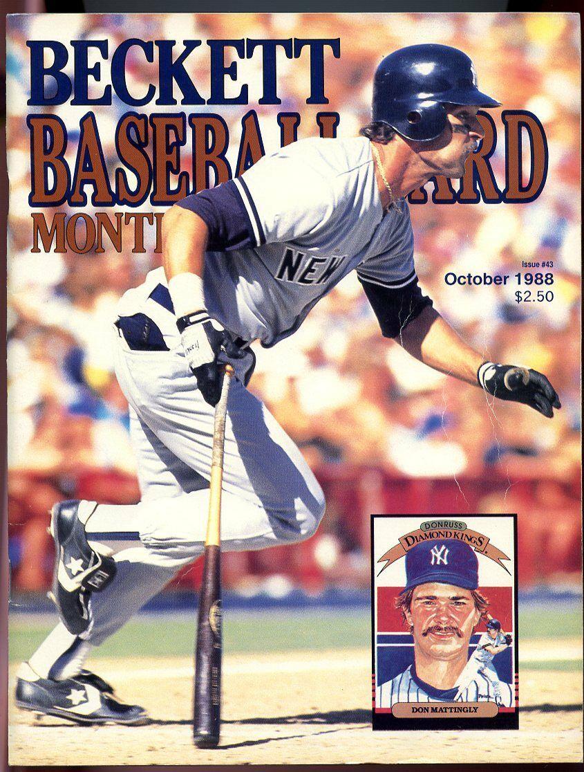 Beckett Baseball Card Monthly #43 October 1988 Don Mattingly NY Yankees G