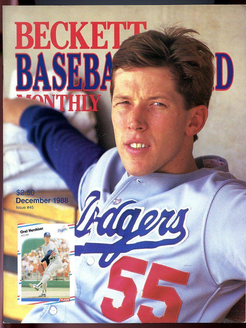 Beckett Baseball Card Monthly #45 December 1988 Orel Hershiser LA Dodgers VG