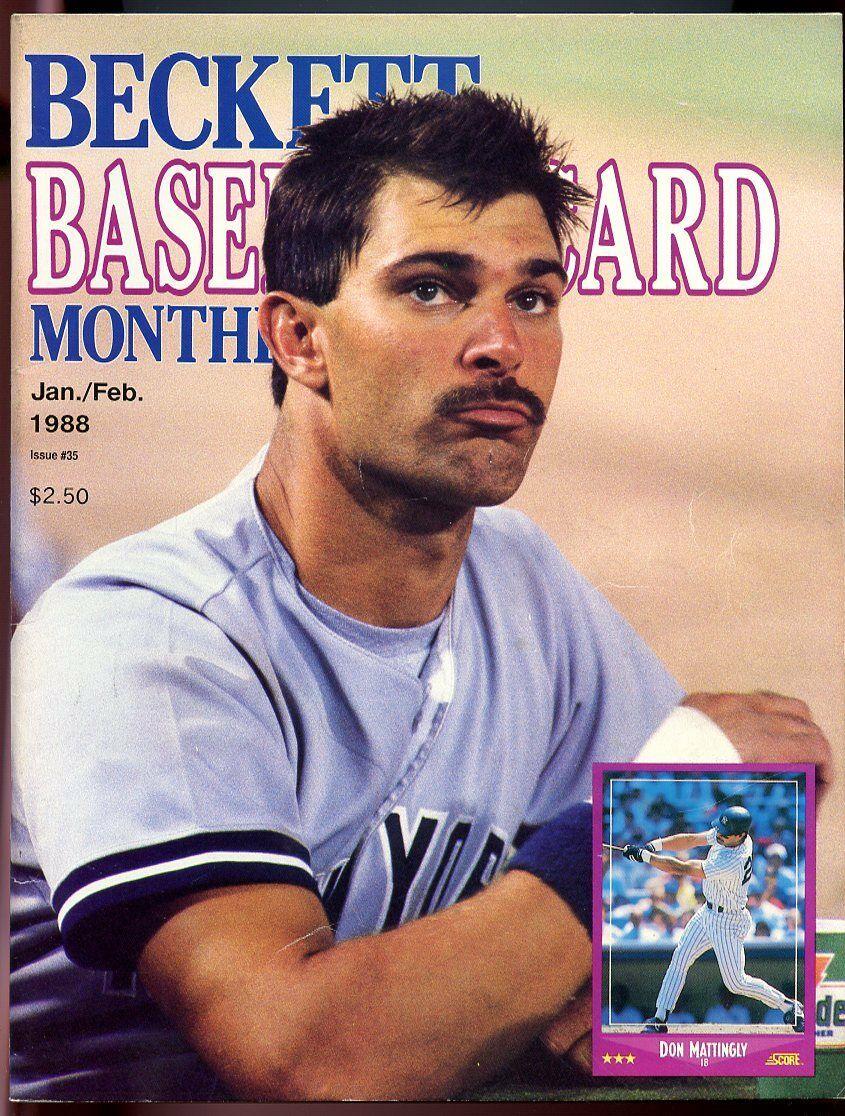 Beckett Baseball Card Monthly #35 Jan/Feb 1988 Don Mattingly NY Yankees VG