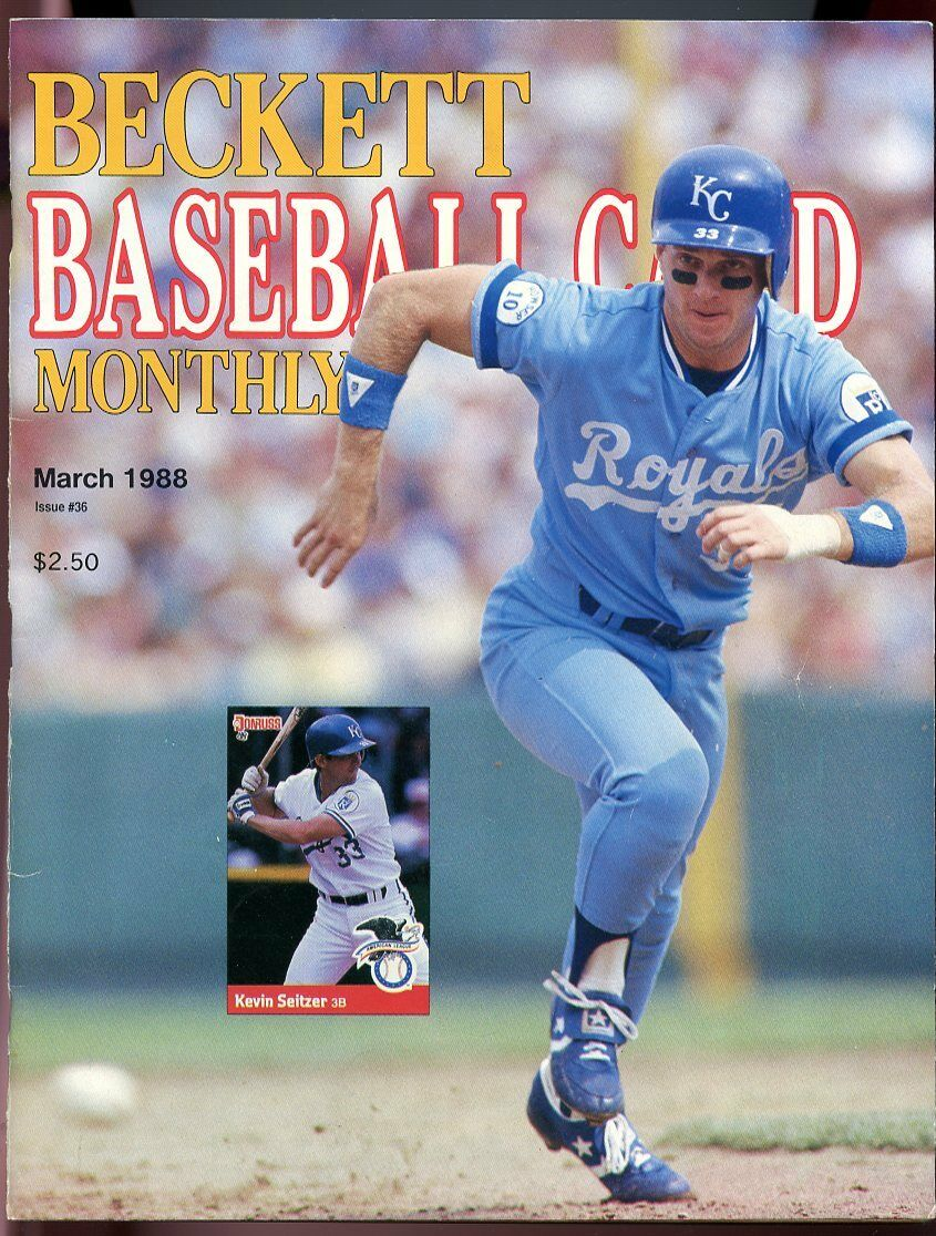 Beckett Baseball Card Monthly #36 March 1988 Kevin Seitzer KC Royals G