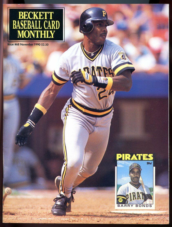 Beckett Baseball Card Monthly #68 November 1990 Barry Bonds Pirates VG