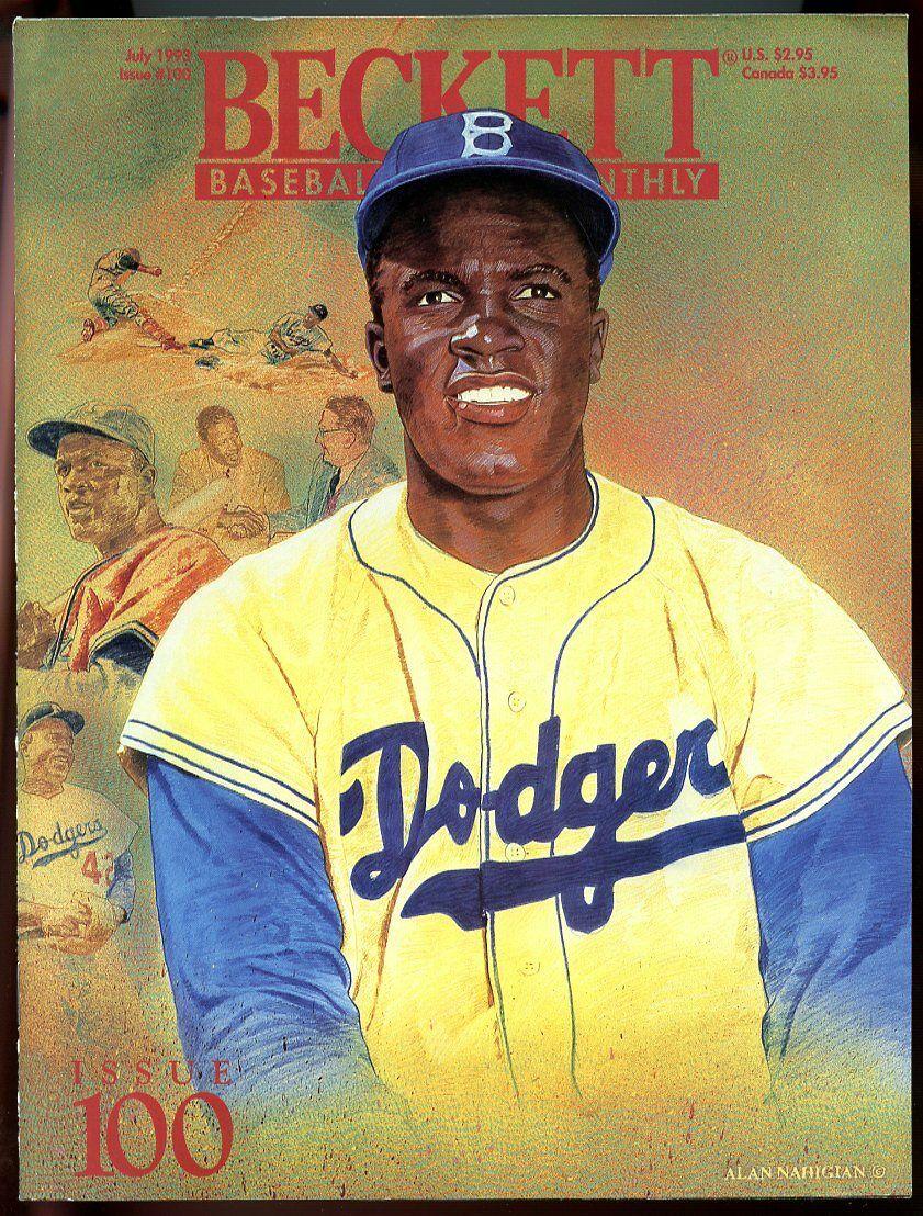 Beckett Baseball Card Monthly #100 July 1993 Jackie Robinson LA Dodgers VG