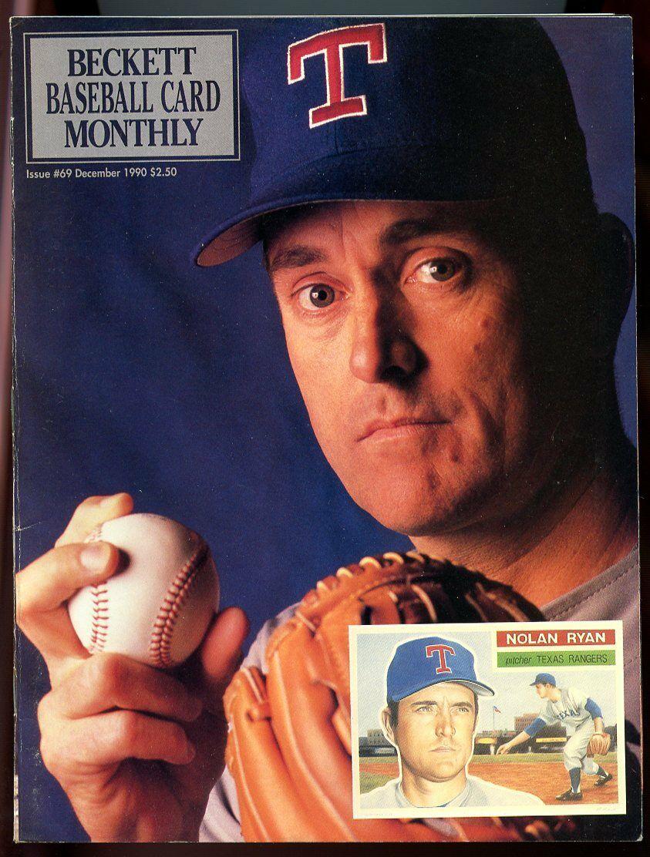 Beckett Baseball Card Monthly #69 December 1990 Nolan Ryan Texas Rangers VG