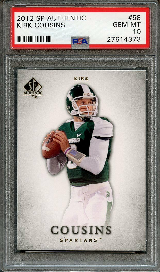 Kirk Cousins Washington  2012 Sp Authentic #58 Rookie Card Redskins PSA 10