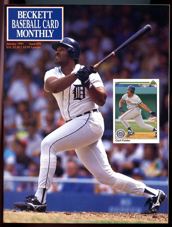 Beckett Baseball Card Monthly #70 January 1991 Cecil Fielder Tigers VG
