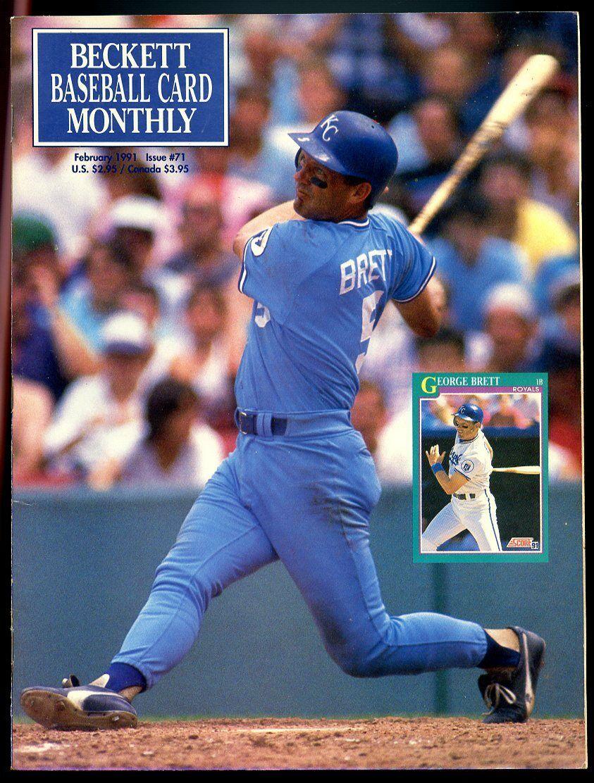 Beckett Baseball Card Monthly #71 February 1991 George Brett KC Royals VG