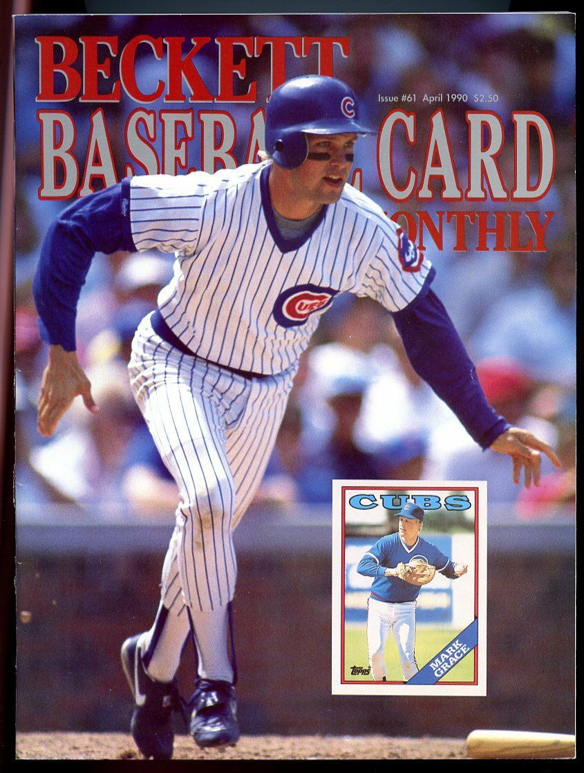 Beckett Baseball Card Monthly #61 April 1990 Mark Grace Chicago Cubs VG