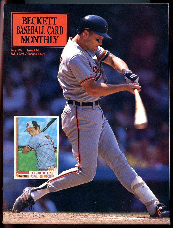 Beckett Baseball Card Monthly #74 May 1991 Cal Ripken Baltimore Orioles VG
