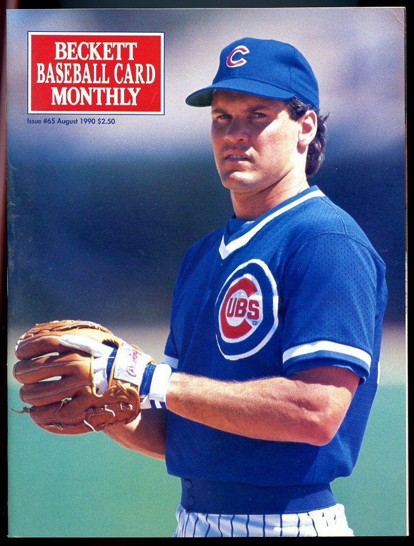Beckett Baseball Card Monthly #65 August 1990 Ryne Sandberg Chicago Cubs VG