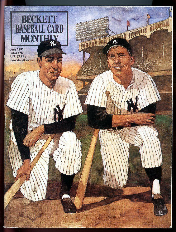 Beckett Baseball Card Monthly #75 June 1991 Greats Gehrig Ruth DiMaggio VG