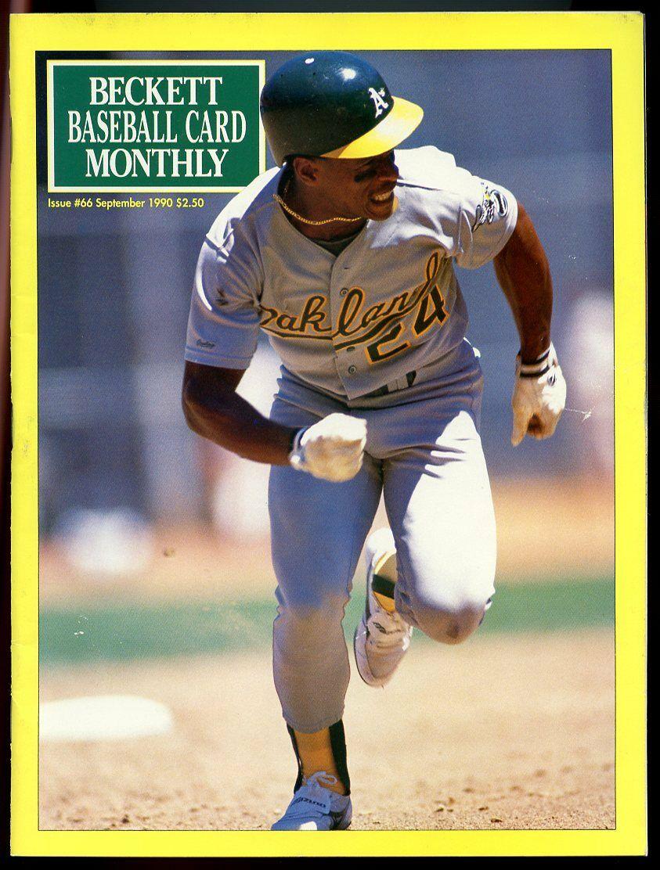 Beckett Baseball Card Monthly #66 September 1990 Rickey Henderson A's VG