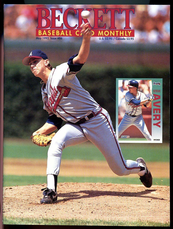 Beckett Baseball Card Monthly #86 May 1992 Steve Avery Atlanta Braves VG