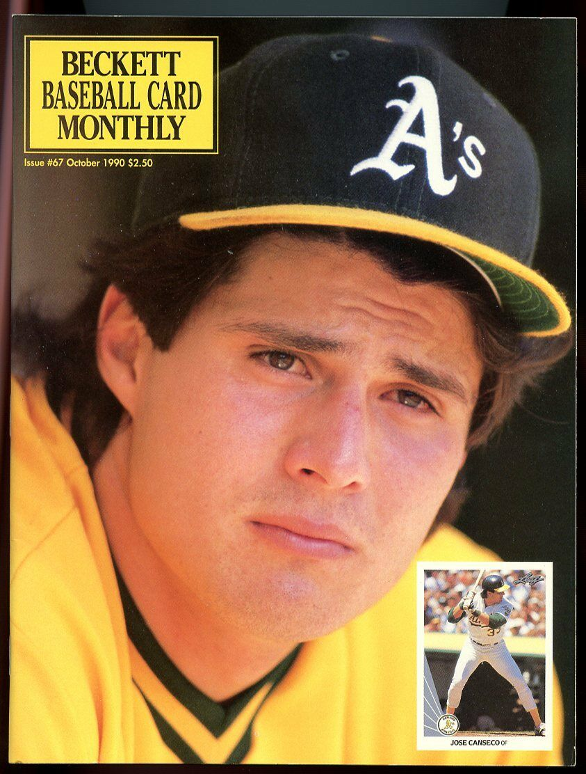 Beckett Baseball Card Monthly #67 October 1990 Jose Canseco Athletics VG