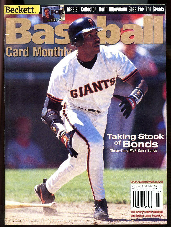 Beckett Baseball Card Monthly #184 July 2000 Barry Bonds SF Giants VG