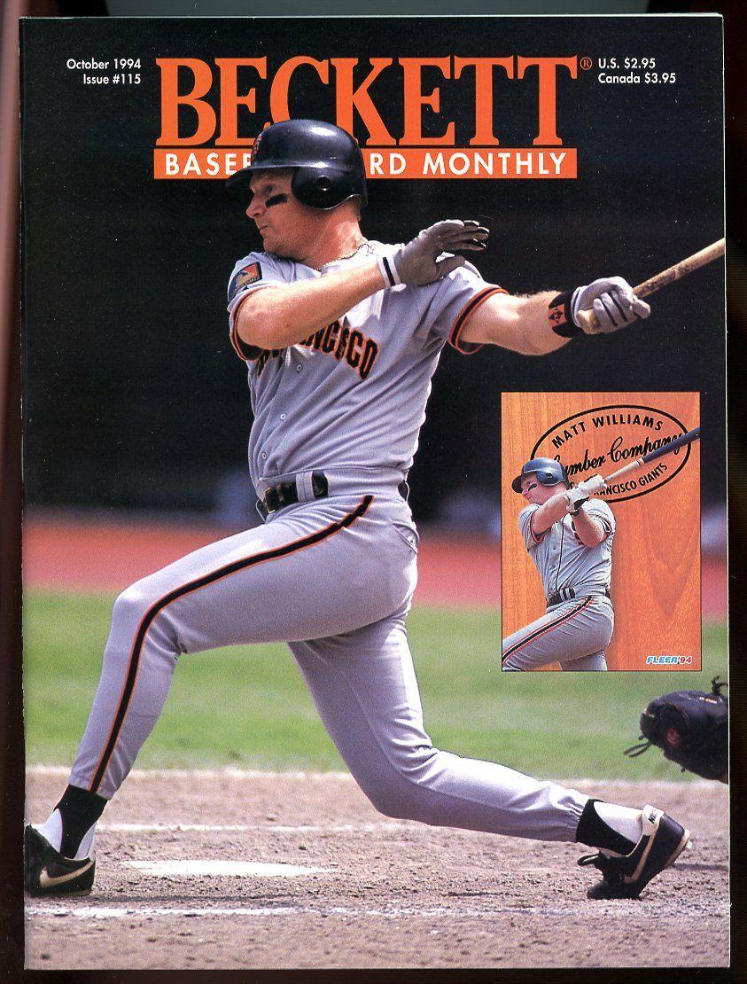 Beckett Baseball Card Monthly #115 October 1994 Matt Williams Giants VG