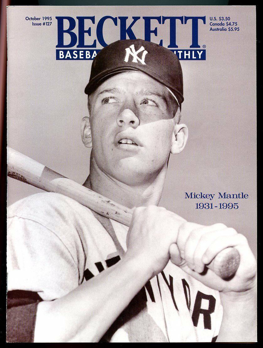 Beckett Baseball Card Monthly #127 October 1995 Mickey Mantle NY 1931-1995 VG
