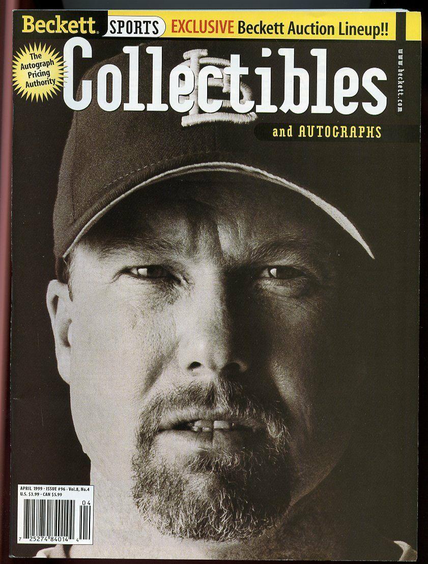 Beckett Sports Collectibles Magazine #96 April 1999 Mark McGwire Cardinals VG