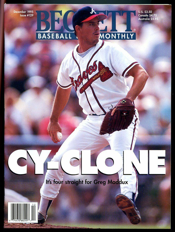 Beckett Baseball Card Monthly #129 December 1995 Greg Maddux Atlanta Braves VG