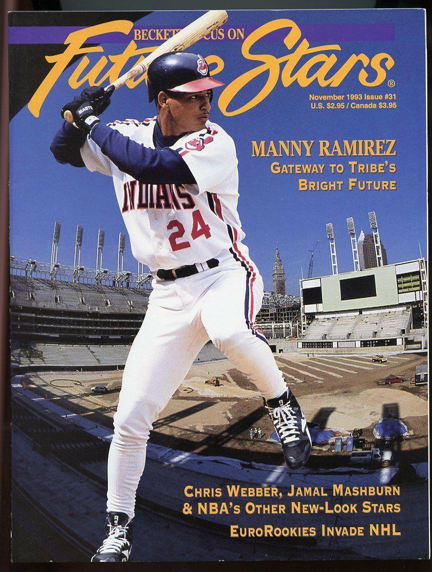Beckett Future Stars Magazine #31 Nov 1993 Manny Ramirez Cleveland Indians VG