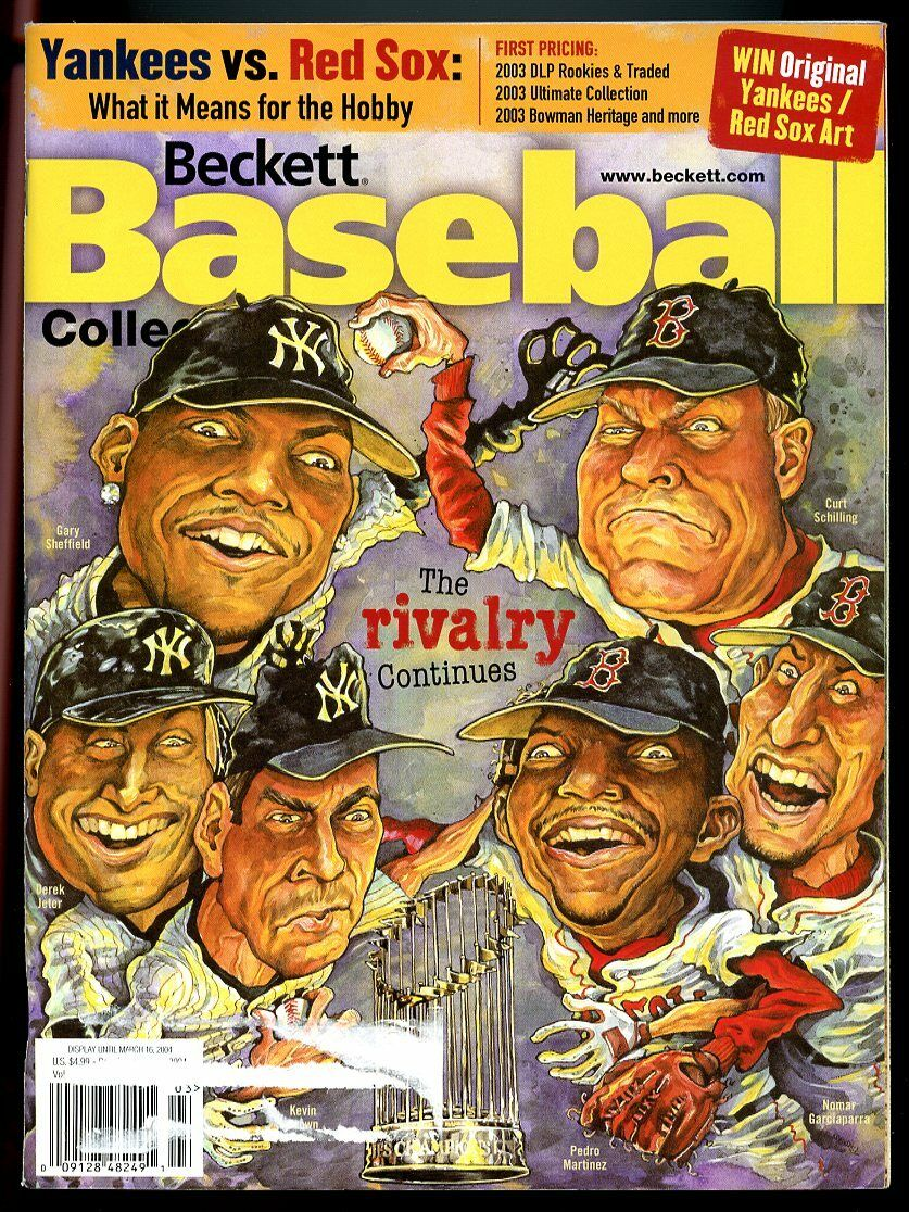 Beckett Baseball Collector #228 March 2004 Rivalry Continues Yankees v Red Sox G