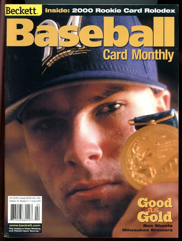 Beckett Baseball Card Monthly #191 February 2001 Good Gold Ben Sheets Brewers VG