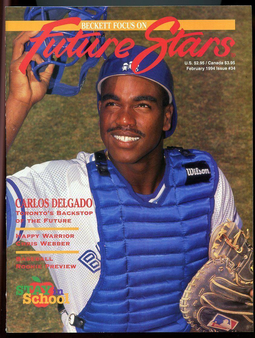 Beckett Future Stars Magazine #34 February 1994 Carlos Delgado Blue Jays VG