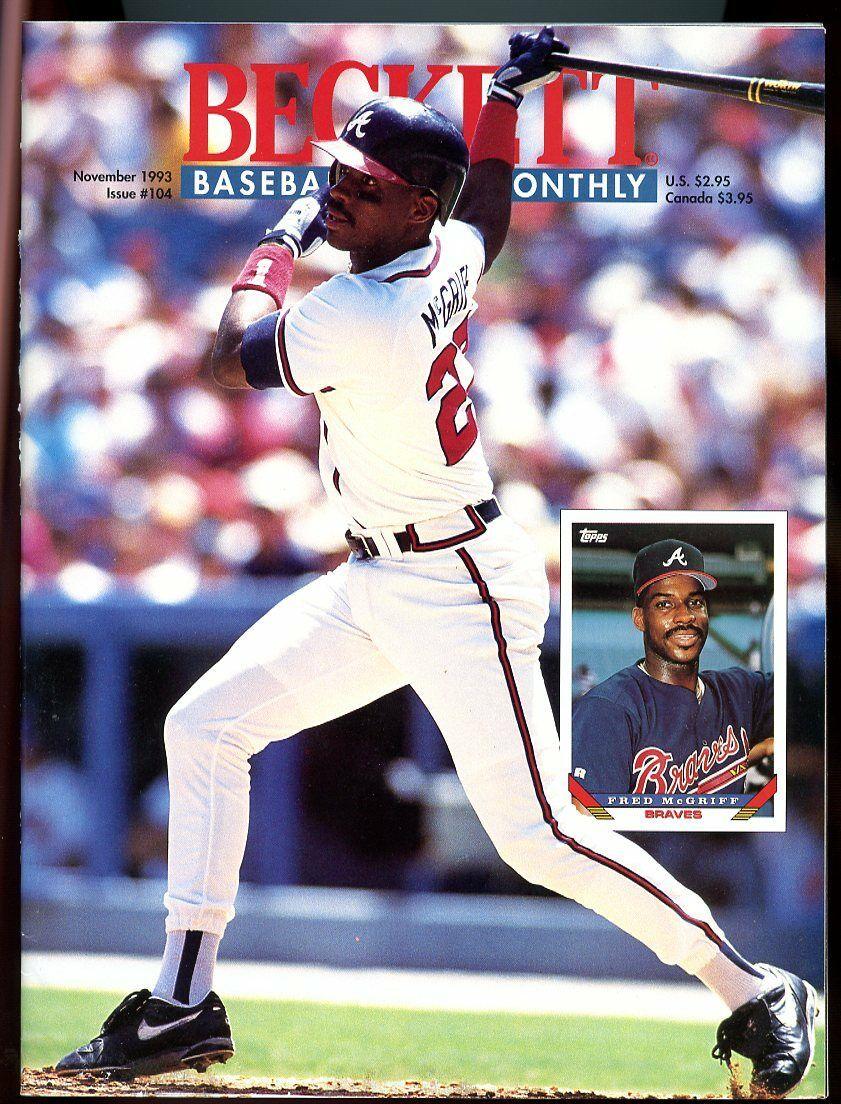 Beckett Baseball Card Monthly #104 November 1993 Fred McGriff Braves VG