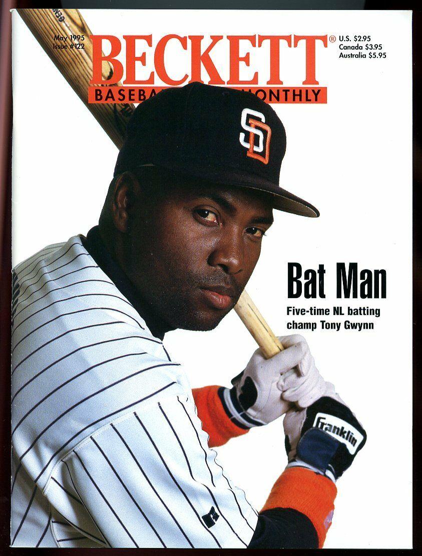 Beckett Baseball Card Monthly #122 May 1995 Tony Gwynn San Diego Padres VG