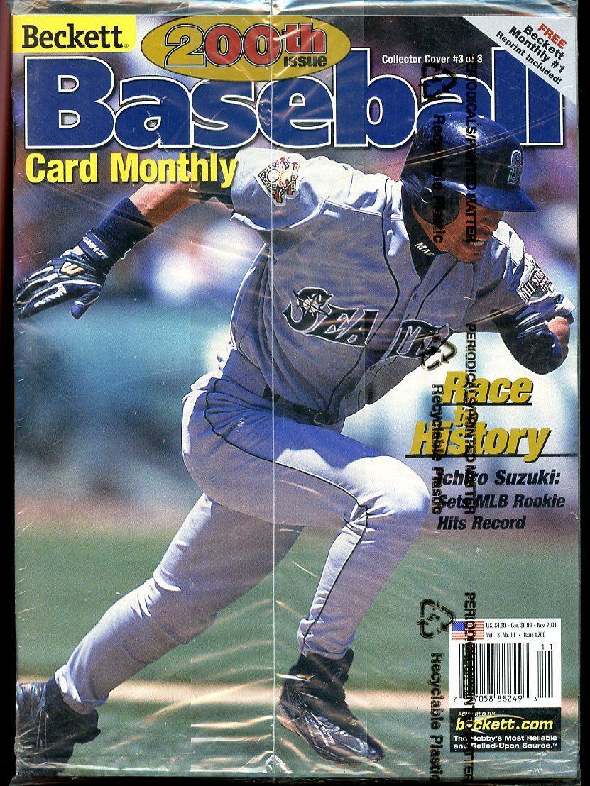 Beckett Baseball Card Monthly #200 November 2001 Race History Ichiro Suzuki VG