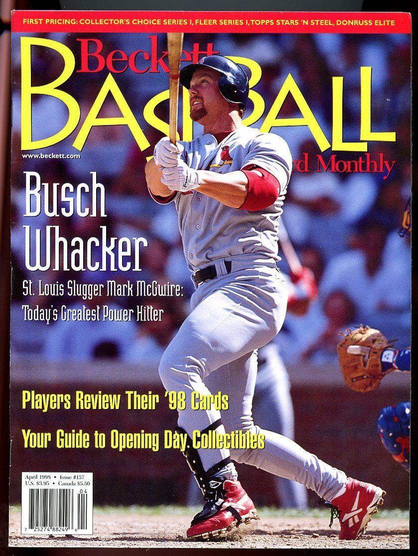 Beckett Baseball Card Monthly #157 April 1998 Busch Whacker Mark McGwire VG