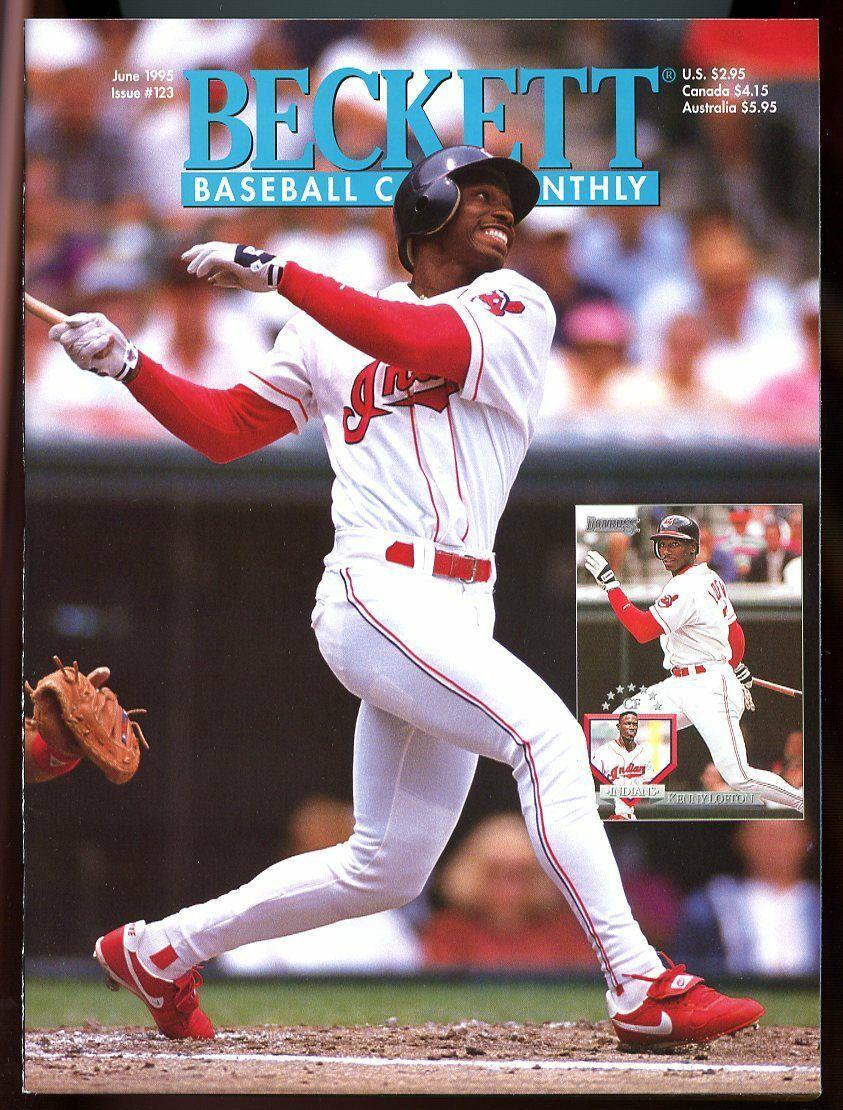 Beckett Baseball Card Monthly #123 June 1995 Kenny Lofton Indians VG