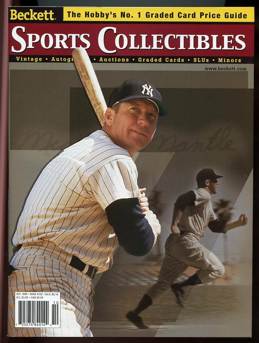 Beckett Sports Collectibles Magazine #102 Oct 1999 Mickey Mantle Yankees VG