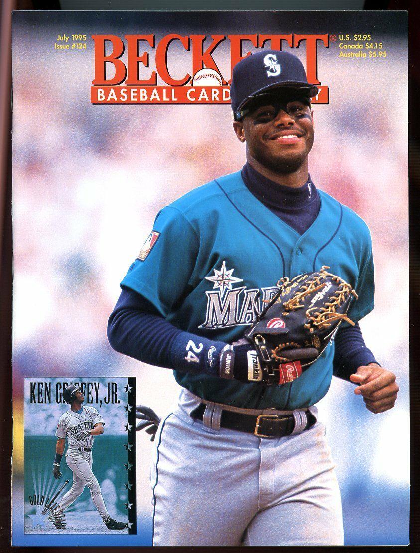 Beckett Baseball Card Monthly #124 July 1995 Ken Griffey Jr. Mariners VG