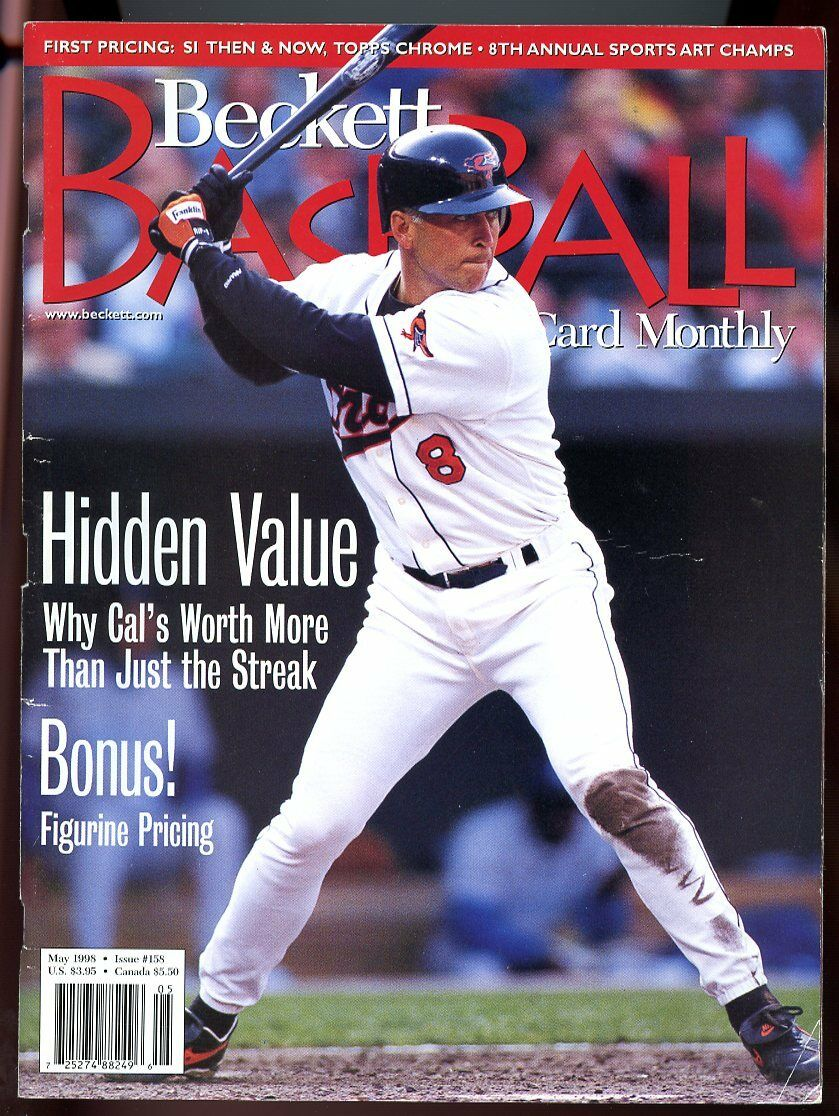 Beckett Baseball Card Monthly #158 May 1998 Hidden Value Cal Ripken Jr G