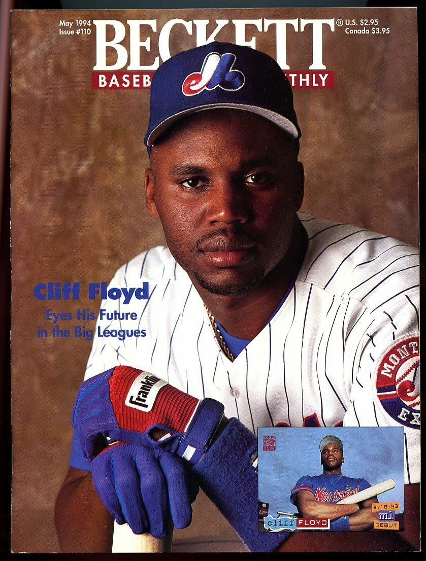 Beckett Baseball Card Monthly #110 May 1994 Cliff Floyd Montreal Expos VG
