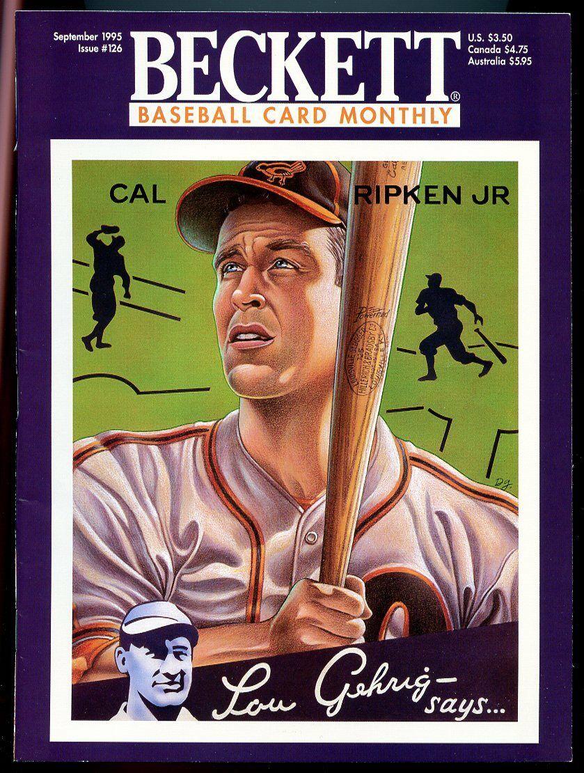 Beckett Baseball Card Monthly #126 September 1995 Cal Ripken Jr. Orioles VG