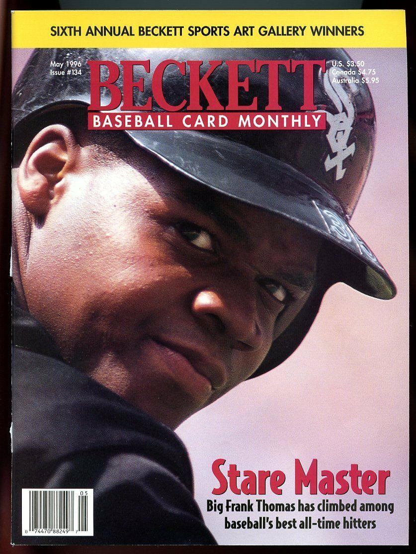 Beckett Baseball Card Monthly #134 May 1996 Stare Mstr Frank Thomas White Sox VG