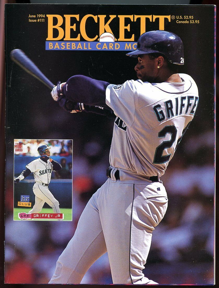 Beckett Baseball Card Monthly #111 June 1994 Ken Griffey Jr Mariners VG