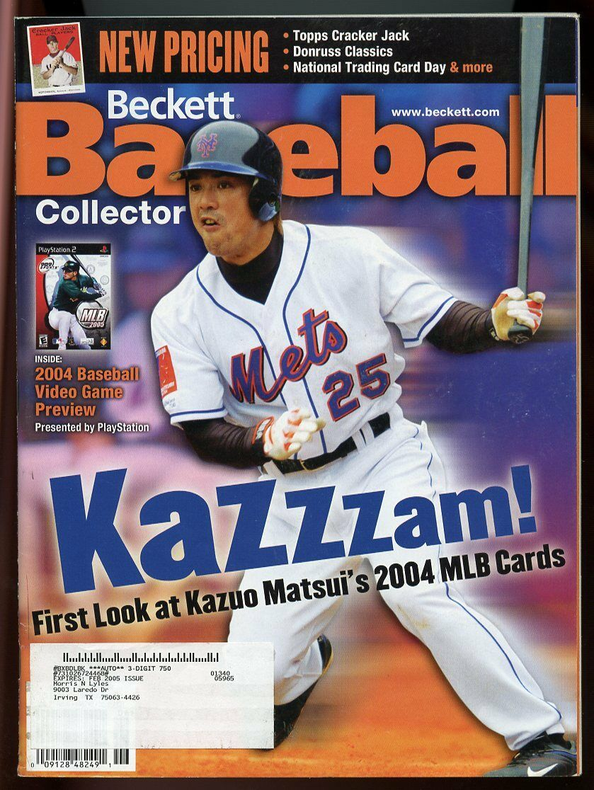 Beckett Baseball Collector #231 June 2004 Kazzzam Kazuo Matsui NY Mets Cover G
