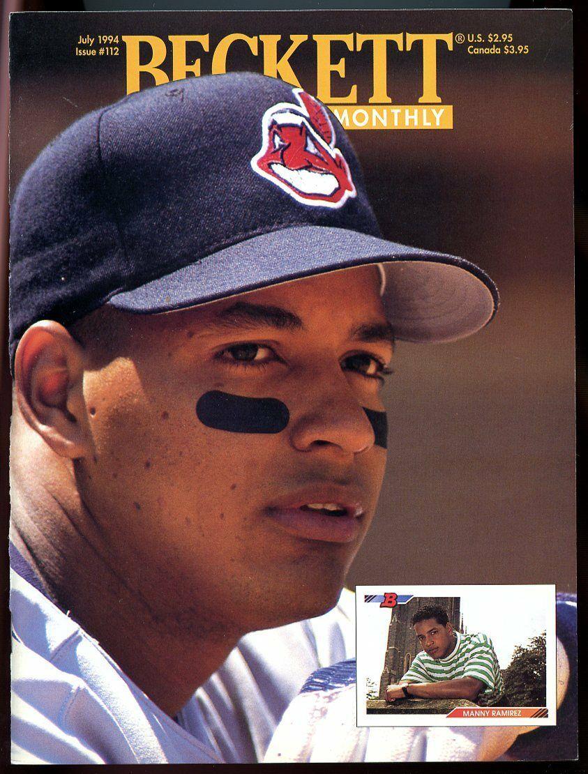 Beckett Baseball Card Monthly #112 July 1994 Manny Ramirez Indians VG