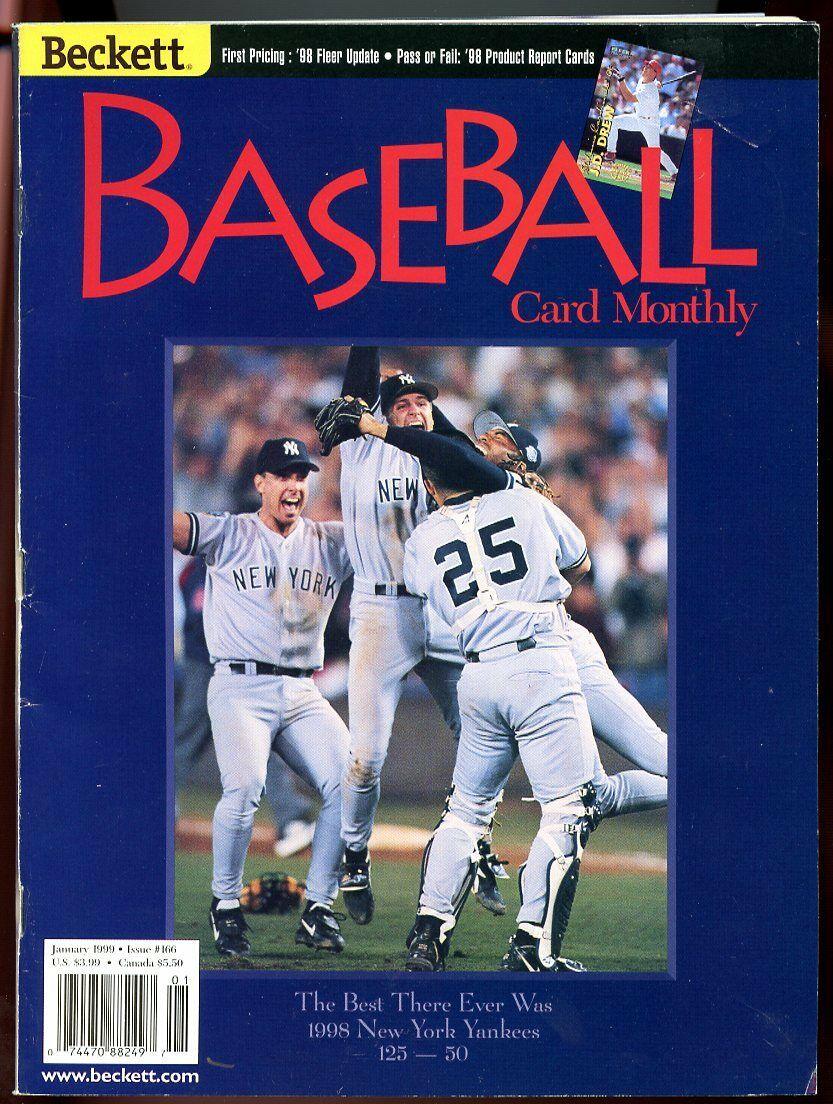 Beckett Baseball Card Monthly #166 January 1999 World Series NY Yankees G
