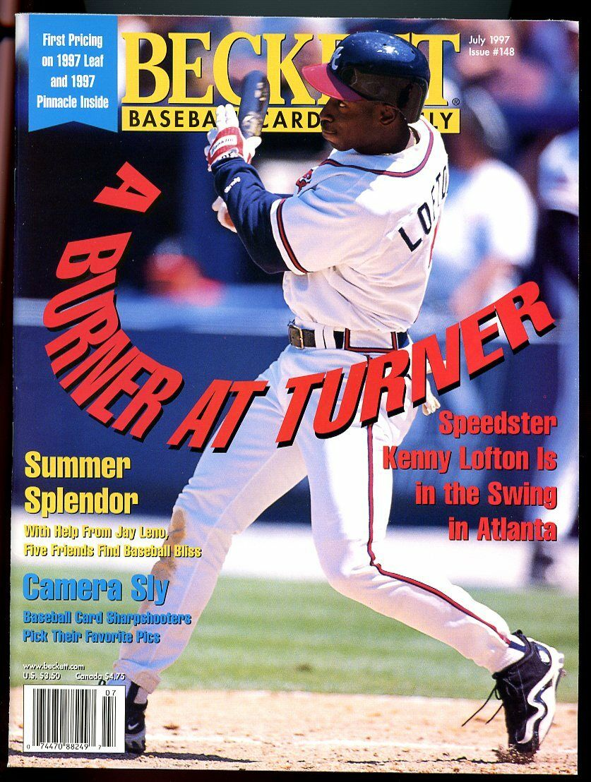Beckett Baseball Card Monthly #148 July 1997 Speedster Kenny Lofton Braves VG