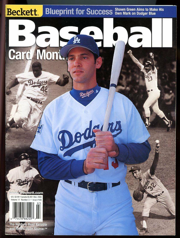 Beckett Baseball Card Monthly #180 March 2000 Shawn Green LA Dodgers VG