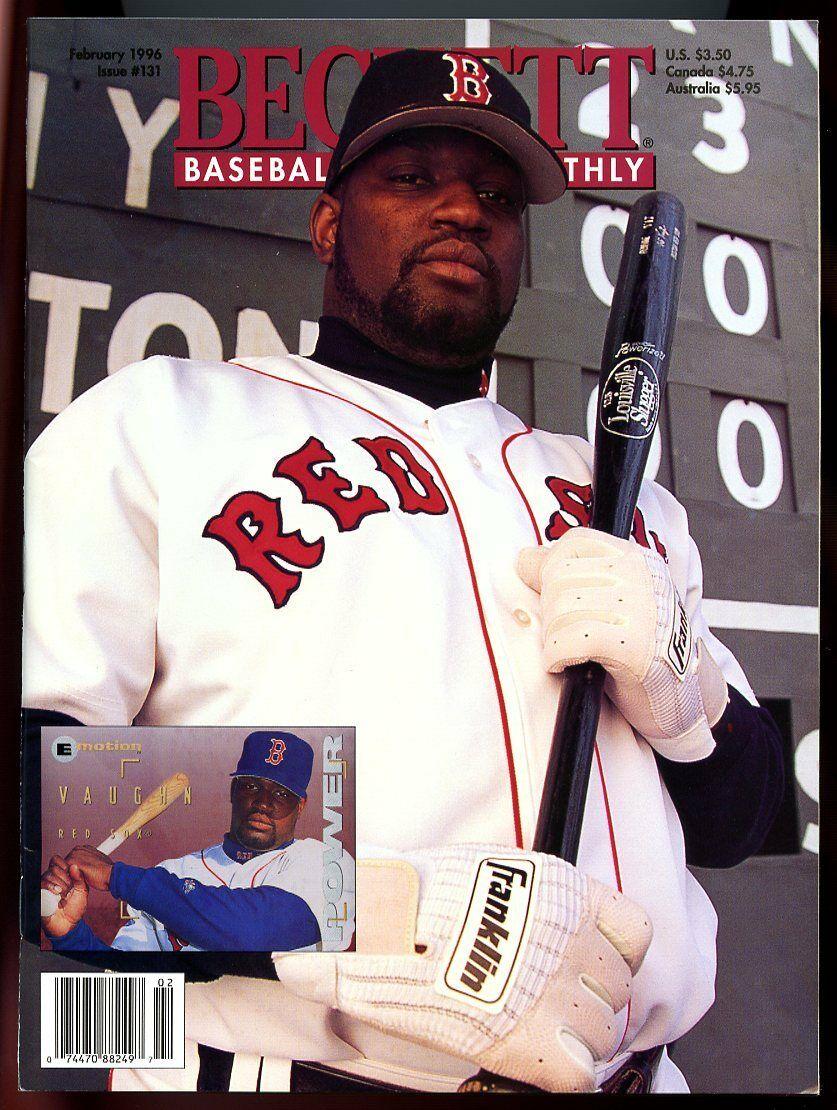 Beckett Baseball Card Monthly #131 February 1996 Boston Red Sox' Mo Vaughn