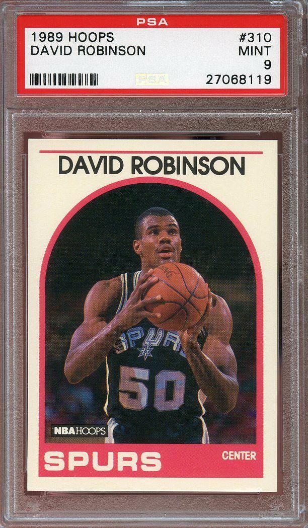 1989-90 hoops #310 DAVID ROBINSON san antonio spurs rookie card PSA 9